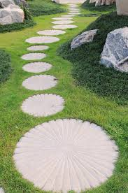 The Curving Stepping Stone Pathway