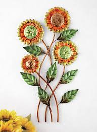attractive sunflower wall art decor with fl country sunflower metal wall art yellow