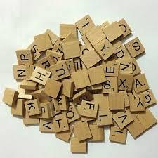 Wooden Board Games Uk 100 WOODEN BOARD GAME TILES LETTERS Black Letters CRAFTS UK 56