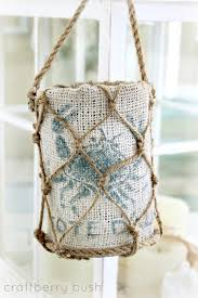 beachy lantern diy
