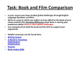 a guide to writing comparison essays  18 task book and film comparison