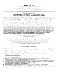 Field Facilities Project Manager Resume Sample Template