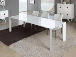 contemporary extending glass dining table in white or silver choice of size view 2