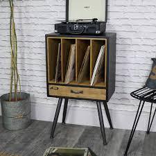 Industrial Retro Style Vinyl Record Storage Cabinet ...