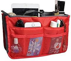 packn handbag travel cosmetics makeup organizer bag red