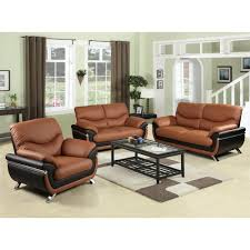 star home living two tone red and black leather three piece sofa set sh216 the home depot