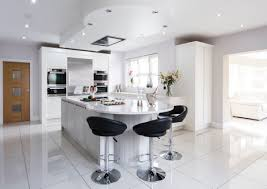 Unique White Kitchen Tile Floor Ideas Sophisticated Modern Scheme With Sleeky Black Tiles And Impressive