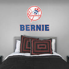 new york yankees stacked personalized name giant mlb transfer decal fathead wall decal