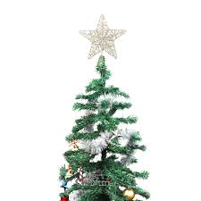 Weihnachtsstern Baumspitze Weihnachtsbaum Spitze 5 Punkt Stern Christbaumspitze Gold Metall 20cm Tannenbaumspitze Toppers Baumschmuck Elegant