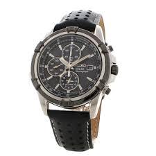 mens seiko alarm chronograph solar powered watch ssc147p2