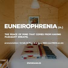 best word addiction images tone words  euneirophrenia the peace of mind that comes from having pleasant dreams