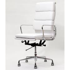 contemporary leather high office chair black. White Leather Desk Chair Contemporary High Office Black