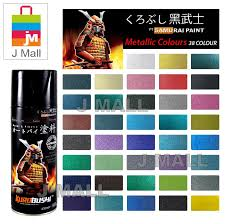 Samurai Spray Paint Colour Chart Samurai Spray Paint Metallic Colour 400ml 45 Metalic Red