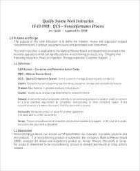 Work Instructions Examples Work Instruction Template Word Free Work Instruction