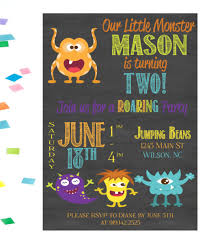 Lil Monster Birthday Invitations Lil Monster Birthday Party Invitation Birthday Party Invitation