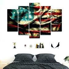 native american wall art native outdoor wall art wall art vintage windy flag multi panel canvas