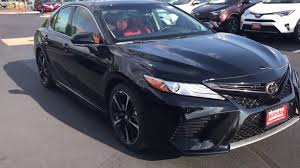 2018 toyota xse v6. contemporary xse 2018 toyota camry v6 xse start up and walk around with red interior in toyota