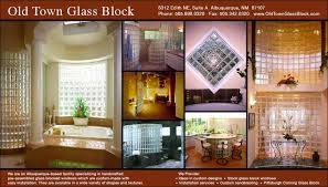 old town glass block