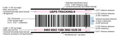 usps barcode format dmm 708 technical specifications