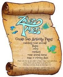 ocean fun activity pages free printables
