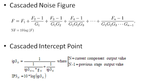 one of the calculations that is required when designing a receiver or transmitter line up of circuit blocks is cascaded noise figure nf and cascaded third