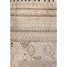 jaipur rugs zuri 8 x 10 hand knotted wool rug in ivory and taupe