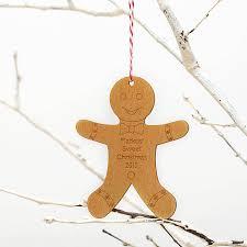 gingerbread man wooden ornament