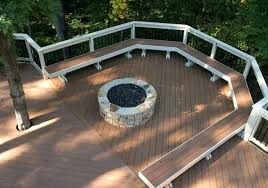 Deck Fire Pit Designs Remarkable Wood Deck With Fire Pit Best Ideas