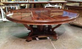 extra large 88 round mahogany dining table with perimeter leaves extra large round dining