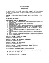 Fast Food Job Description For Resume Fast Food Cashier Resume