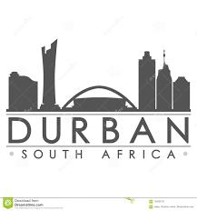 Durban Design Durban South Africa Silhouette Icon Vector Art Flat Shadow