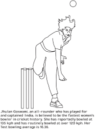 Free Online Cricket Bat Ball Colouring Page Pinterest Sport Coloring