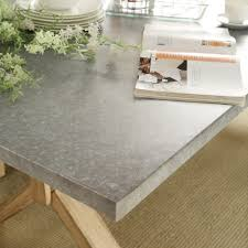 Aberdeen Industrial Zinc Top Weathered Oak Trestle Dining Table by iNSPIRE Q  Artisan - Free Shipping Today - Overstock.com - 16980235