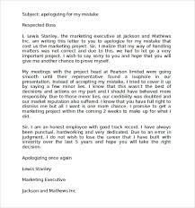 9 Apology Letters For Mistake Pdf Word