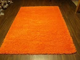 large modern orange shaggy modern luxury cm thick pile rug