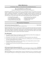Resume For Hospitality Management Cover Letter Hospitality