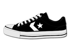 converse shoes black and white clipart. converse shoe by schango on clipart library shoes black and white