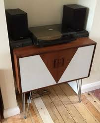 vinyl record furniture. Quite Simply, The Unit Pictured Above Is A Mid-century (most Likely 1960\u0027s), Two-door Cabinet That We Gave 21st-century Facelift, By Painting Simple Vinyl Record Furniture