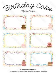 Birthday Tags Template Pin By Muse Printables On Name Tags At Nametagjungle Com Name Tags