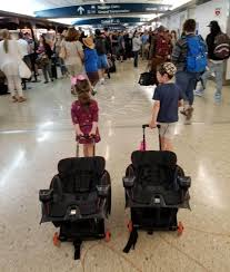 flying with 3 kids our airport and