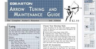 Easton Arrow Size Chart Easton Arrow Tuning Guide Easton Archery