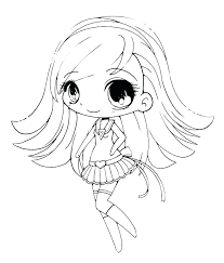 Coloring Page Of A Girl Anime Coloring Pages For Girls Anime