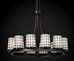 dakota wire 12 light tall ring chandelier