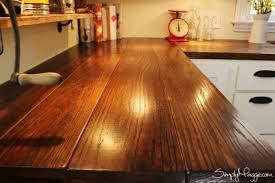 butcher block countertops 2. Wood Countertop Planks Close 2 1024x682 Groun Breaking Print Diy Wide Plank Butcher Block Countertops Simplymaggie E
