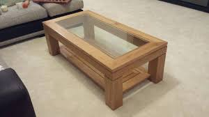 wood end tables with glass tops dark coffee top