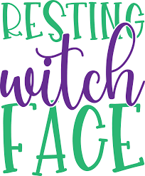 This design is intended to be cut with an electronic cutting machine. 21 Resting Witch Face Svg Free Background