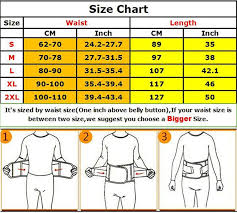 Tummy Size Chart Waist Trainer Sweat Belt For Stomach Workout Weight Loss