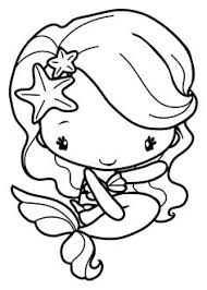 Plain Ideas Cute Mermaid Coloring Pages Of S Hello View In Full Size