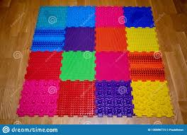 Kids Fitness Massage Rubber Pad Stock Photo Image Of Factured