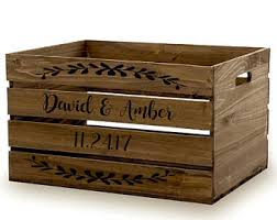 Rustic Wood Wine Crate, Custom Wood Storage Crates, Wine Crate Gift Basket,  Rustic